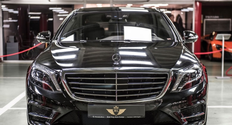 Frontal Mercedes Clase S 500