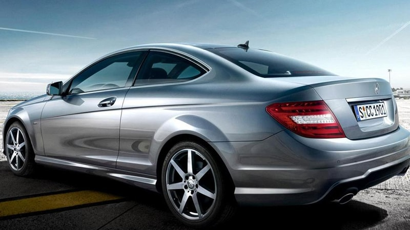 Mercedes C250 Coupe Trasera